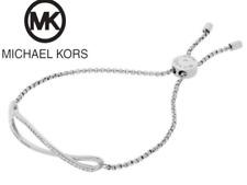 MICHAEL KORS Women's Wonderlust Silver Tone Slider Bracelet Crystals MKJ6618040