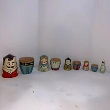 Family With Cone Heads Nesting Dolls- 5 Full Set