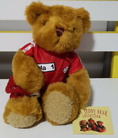 TEDDY BEAR COLLECTION PLUSH TOY ABOUT 17CM SEATED! ROY RACING DRIVER SOFT TOY!