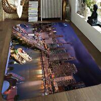 Details about  /3D Painting Art 6 Non Slip Rug Mat Room Mat Round Elegant Photo Carpet US Summer