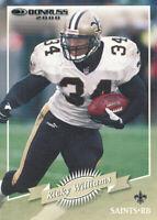 Ricky Williams 2000 Donruss #90 New Orleans Saints football Card