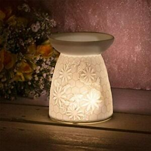 Wax Melt Oil Burner Ceramic Honeycomb Tealight Holder Diffuser Aromatherapy