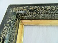 "ANTIQUE FITS 10 X 13"" LEMON GOLD GILT PICTURE FRAME WOOD GESSO FINE ART COUNTRY"