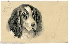 PORTRAIT DE CHIEN. GAUFRé. DOG. EMBOSSED