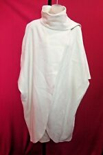 ~~Vintage Winter White 100% Wool Cape Coat w/ attached Shawl OS~~XL 1X 2X