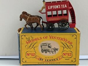 Matchbox Lesney Models Of Yesteryear Y12-1 1889 London Horse Drawn Bus, Issue 2