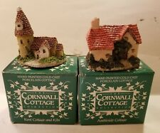 Set Of 2. NEW In Box Cornwall Cottages. AMBLESIDE & KENT & KILN.      (O41#11dr)