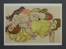 Egon Schiele Lichtdruck Collotype Signed Two reclining models 1915 Zwei Modelle