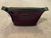 NWT, Kate Spade Wilson Road Jodi Medium Cosmetic Pouch Bag, Deep Plum