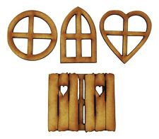 Fairy Door Accessories: Fairy Windows - 6 piece Mixed Wooden Fairy Window Pack