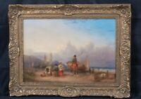 Large 19th Century English Coastal Beach Landscape William SHAYER (1787-1879)
