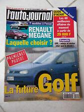 L'Auto-Journal 1995 No 424 Renault Megane Honda Nsx - T Lancia kappa Mercedes