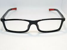 TAG Heuer Urban 7 TH0512 002 Eyeglasses Black Red Made in France