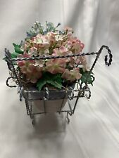 Byers' Choice Accessory Flower Cart with 2 flower pots 15