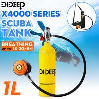 DIDEEP 1L SCUBA Oxygen Diving Tank Snorkeling Equipment Breathing Valve