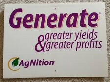 AGNITION Generate Seed Corn Dealer Field Sign Authentic Farm Barn Man Cave