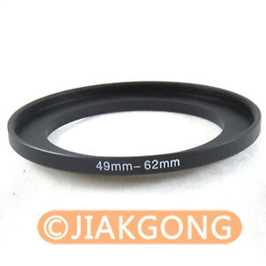 49mm-62mm 49-62 mm Step Up Filter Ring Stepping Adapter