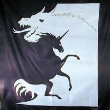 UNICORN AND DRAGON SILK WALL BANNER #103 fabric tapestry two in one picture new