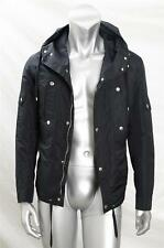 DIOR HOMME Mens Black Hooded Coat Jacket Parka Outerwear Windbreaker 48/S NEW