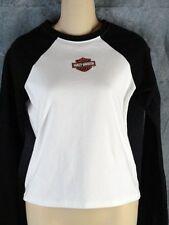 Harley Davidson S New Black White Long Sleeve T Shirt NWOT