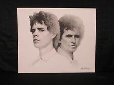 Mick Jagger Keith Richards Gary Saderup B&W Lithograph The Rolling Stones