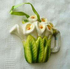 CALLA LILIES Ceramic TEAPOT Flowers WALL PLAQUE Decorative Plaque Calla Lilies