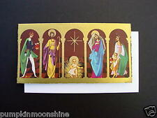 #H601- Unused Xmas Greeting Card Visiting Christ & Holy Family Printed in Spain