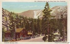 COLORADO SPRINGS CO 1929 Glencove Inn on Pike's Peak Auto Highway Old Cars GEM++