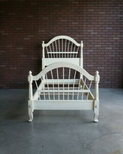 Twin Bed Frame ~ Cottage Bed ~ Country French Wheatback Bed by Ethan Allen