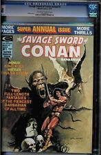 SAVAGE SWORD OF CONAN ANNUAL #1 OWW CGC 9.8 CGC #0761888019
