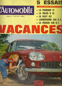 L'AUTOMOBILE 219 1964 24H DU MANS INDY 500 PANHARD PL17 VOLVO 132 FERRARI 330 GT