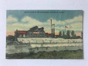 Postcard FL Clewiston Forida U.S. Sugar Corp House Processing Plant Everglades
