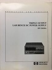 HP E3630A Triple Outlet DC Power Supply Operating & Service Manual P/N 5959-5329