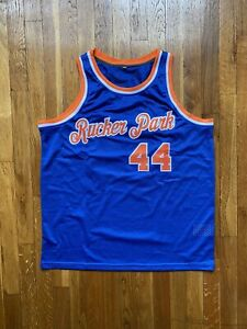 """Custom Basketball Jersey Rucker Park Earl """"The GOAT"""" MANIGAULT Size XL FITS MED"""