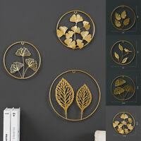 Metall Wandbild 3D Kreise Ringe Wandskulptur 60x25 Gold Silber Blumen Wanddeko
