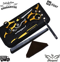 SHARPEND Pro Barber Hairdressing School College Scissors Kit Cutting Thinning AU