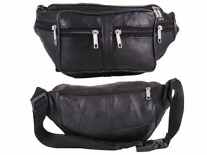 Mens Unbranded Leather Bum/Waist Bag New And Tagged Black