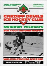 Oct 87 Cardiff Devils V Swindon Wildcats (otoño trofeo) (Diablos segunda temporada)