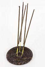 2pc Set Natural Soap Stone Candlestick / Incense Stick Holders (7595-a) 10cm Dia