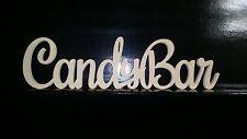 Freestanding Candybar Wooden Sign Raw MDF Candy Bar 3 version Candy Buffet Sign