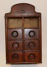 Antique Wall Mount 8 Drawer Spice Box/Apothecary Box