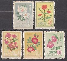 KOREA 1963 mint (*) SC#451/55 set, Korean flowers.