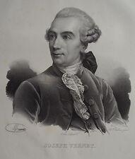 JOSEPH VERNET , PORTRAIT, LITHOGRAPHIE 1840 DELPECH