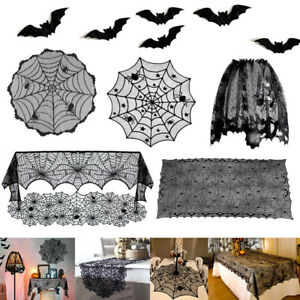 Halloween Table Runner Spider Web Lace Festival Table Cover Decoration for Party