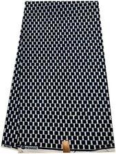 Blue & White African Ankara Print Fabric 6 Yards/Wax Prints- Bw131-B