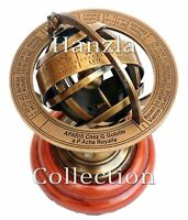 Antique Brass Armillary Sphere Marine Nautical Decor Collectible Astrolabe Gift