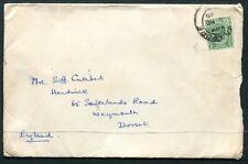 Straits Settlement KGV cover Singapore to UK  dated NOV 35