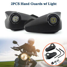 Universal Motorcycle Hand Guards w/LED Lights Rainproof Windshield Protector