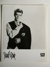 David Bowie 8 X 10 Glossy Black & White 1980's Vintage Picture Promotional Emi