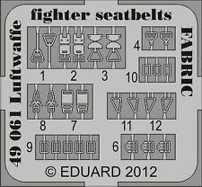 Eduard 1/48 Luftwaffe Fighter Seatbelts Fabric # 49061